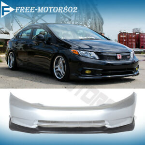 Fits 2012 Civic Sedan Usdm Model Md Style Front Bumper Lip Pu