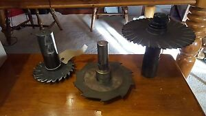 Slotting Cutter W Holders Arbor Saw Blades Lot Of 3 6 X 3125 190r