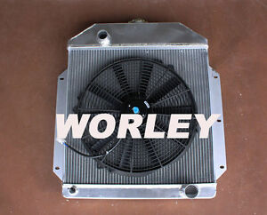 3 Core Aluminum Radiator Fan For Ford Pickup Truck Chevy Engine 1942 1952 Mt