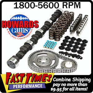 Howard s Bbc Rattler 281 289 545 553 109 Comp Cam Camshaft Kit Big Block Chevy