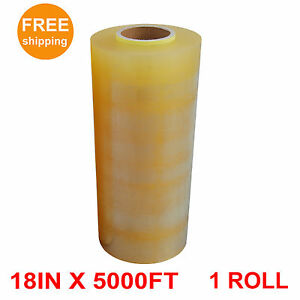 1 Roll Premium Food Meat Wrapping Film Clear 18 In X 5000 Ft