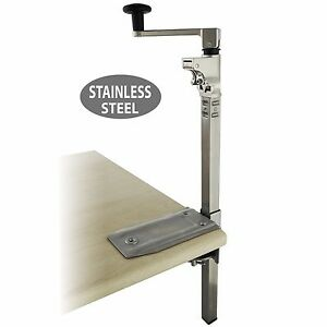 Boj Commercial Grade Can Opener Heavy Duty Table Mount 19 stainless Steel