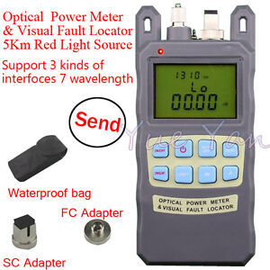 Fiber Optical Power Meter 70 10dbm 1mw 5km Cable Tester Visual Fault Locator