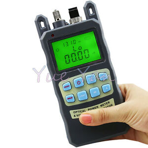 Fiber Optical Power Meter 70 10dbm 10mw 10km Cable Tester Visual Fault Locator
