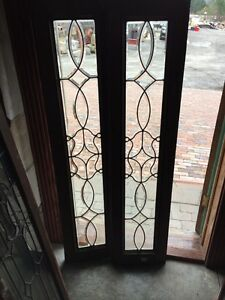 Sg 372 Matched Pair Beveled Glass Sidelights Or Transom