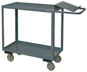 Durham 2 Shelf Order Picking Cart With Writing Surface Lip For Pens 24 X 36