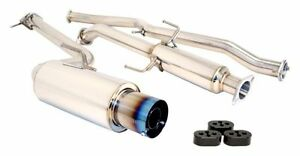 Megan Catback Cat Back Exhaust Drift Spec Blue Ti Tip 2 5 For 11 up Scion Tc