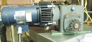 Leeson Direct Current Permanent Magnet Motor 098000 00 W Gear Reducer