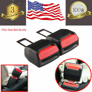 Car Front Driver Passenger Side Seat Belt Clip Press Extender Buckle Lock Safety