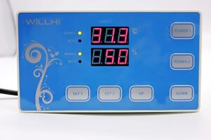 110v Digital Temperature And Humidity Controller Incubator Thermostat W Sensor