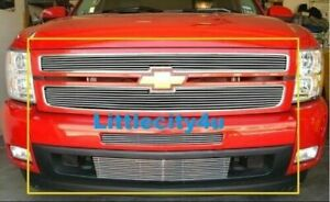 For 2007 2013 Chevy Silverado 1500 Billet Grill Grille Combo Inserts