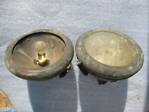 Antique Headlights 1910 1920s Ca Well Used Also Used As Hanging Lights As Is