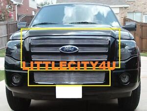For 2007 2008 2009 10 11 12 13 Ford Expedition Billet Grille Grill Combo Insert