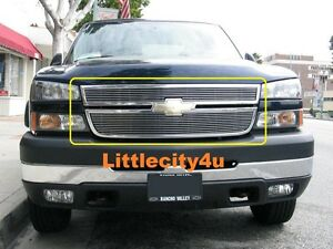 For 05 06 Silverado 2500 Hd 3500 Hd Billet Grill Grille 2pcs Upper Inserts