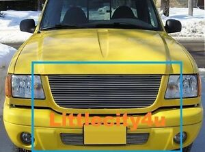 For 01 02 03 Ford Ranger Edge Billet Grille Grill Combo 1pc Upper 1pc Bumper