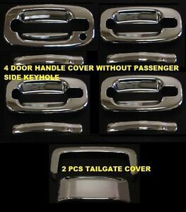 For 2001 2006 Chevy Tahoe Suburban Gmc Yukon 4 Door Handle Cover Tailgate Covers