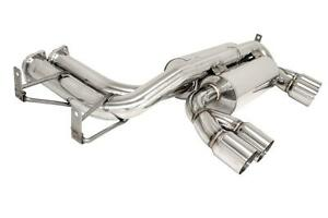 Megan Axle Back Exhaust Stainless Steel Polished Tips For 01 06 E46 Bmw M3