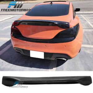 Fit 10 12 Hyundai Genesis 2dr Coupe Rear Trunk Lid Spoiler Wing Urethane