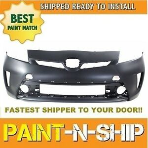 New Fits 2012 2013 2014 2015 Toyota Prius Front Bumper Painted to1000394