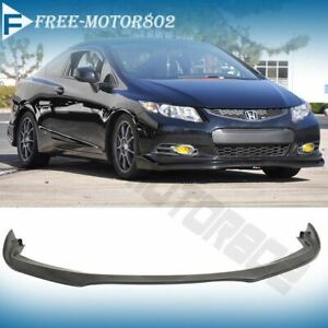 Fits 2012 2013 Honda Civic 9th Gen Coupe Cs Style Front Bumper Lip Spoiler Pu