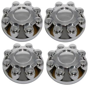 New 2003 2013 Dodge Ram 1500 2500 3500 Truck Wheel Hub Center Cap Chrome Set