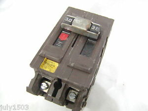 Wadsworth 30 Amp 2 Pole Hacr Circuit Breaker Big Housing 30a Small Lug