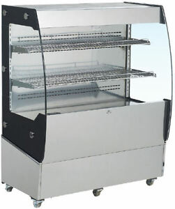 Omcan Rs cn 0200 40 Open Air Grab And Go Refrigerated Display Case Cooler New