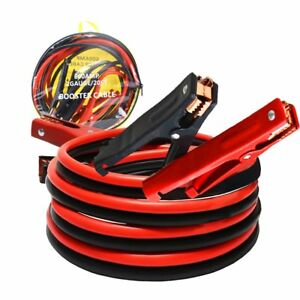 20 Ft 2 Gauge Heavy Duty Auto Battery Power Starter Booster Jumper Cable New