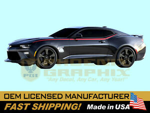 2016 2017 2018 2019 Chevy Camaro Sixth 6th Gen Side Spears Lt Rs Ss Decal Stripe