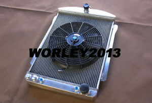 56 Mm Aluminum Radiator Fan For Chevy Car Street Rod 1940 1941