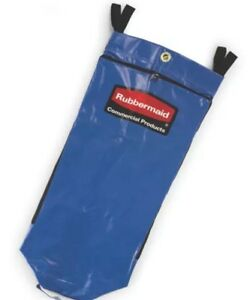 New Rubbermaid Commercial 9t93 Recycling Bag Blue For Janitorial Cart