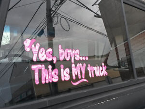 Yes Boys This Is My Truck Pink Camo W Hat Car Truck 4x4 Decal Sticker