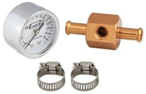 Mr Gasket 1560 Chrome Fuel Pressure Gauge With In Line Adapter