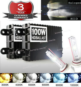 100w 75w Xenon Headlight Conversion Hid Kit H1 H3 H4 H8 H13 Hb3 Hb4 9007 10k S