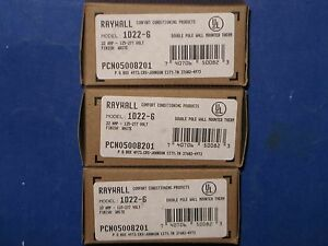 Raywall 22a 125 277v Double Pole Wall mounted Thermostat 1d22 6 Pcn05008201 3nib
