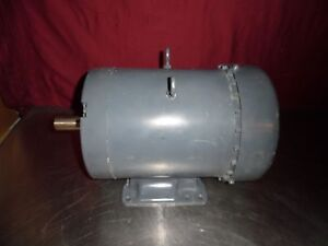 Leeson Electric Motor C184t34fb1d 5hp Ph3 3475 Rpm 230v G184t Frame