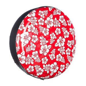 27 Hawaiian Rigid Tire Cover Red Print Honda Crv