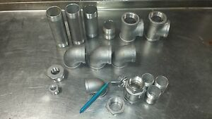 Lot Of 304 Stainless Pipe Fittings
