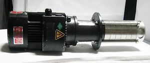 Gusher Stainless Steel Vertical Immersion Pump gmvcp4 50 5 Black