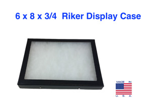 6 X 8 X 3 4 Riker Display Case Box For Collectibles Jewelry Arrowheads More