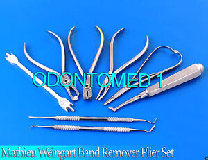 Mathieu Weingart Band Remover Plier Distal End Cutter Orthodontic Kit dn 2091