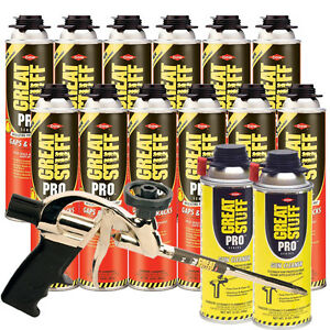 Dow Gaps And Cracks 24oz Gun Foam 12 Pro 14 Dispensing Gun 1 gun Cleaner 2