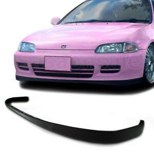 Fit For 92 95 Honda Civic Coupe Hatchback Jdm Sir Style Front Bumper Add On Lip