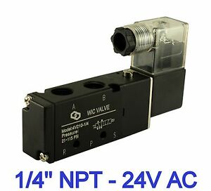 Pneumatic Air Directional Control Solenoid Valve 4 Way 2 Position 24v Ac 1 4