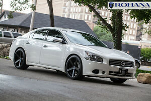 20x9 25 Rohana Rc22 5x114 Black Wheels Fit Nissan Maxima 2010 5x4 5 Aggressive