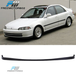 Fits 92 95 Honda Civic Sedan Sir Style Front Bumper Lip Spoiler Pu