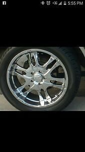 Rims 22 With Tires Full Thread On Tires