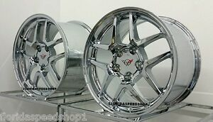 Chrome C5 Z06 Style Corvette Wheels Fits 1988 1996 C4 Corvette camaro 17x9 5