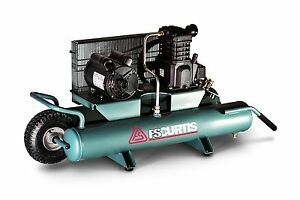 Fs Curtis Wheel Barrow 2 Hp Horizontal Portable Air Compressor 115 60 1