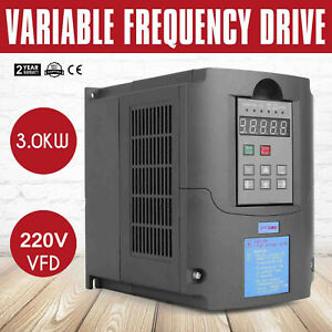 4hp 3kw Variable Frequency Drive Vfd Inverter 220v 13a Capability Single Vsd